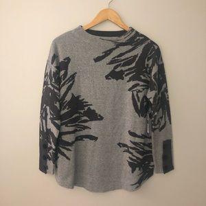 Nic + Zoe printed sweater sz MP